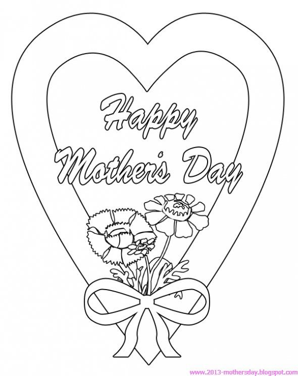 Happy Mothers day Coloring Pages for Kids ~ Happy Mothers