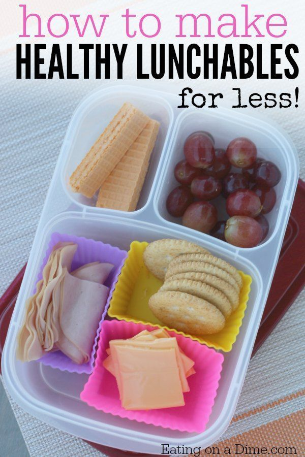 How To Make Healthy Lunchables Homemade Lunchables Lunches