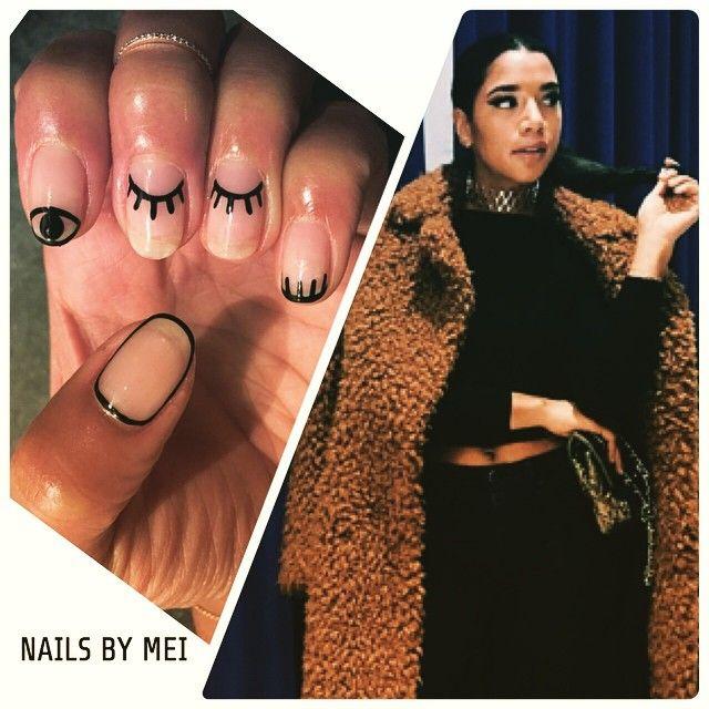 My favorite @hannahbronfman ❤️ 's new Nail❤️ #nailsbymei #handpainted #gelnails #meiscustomer