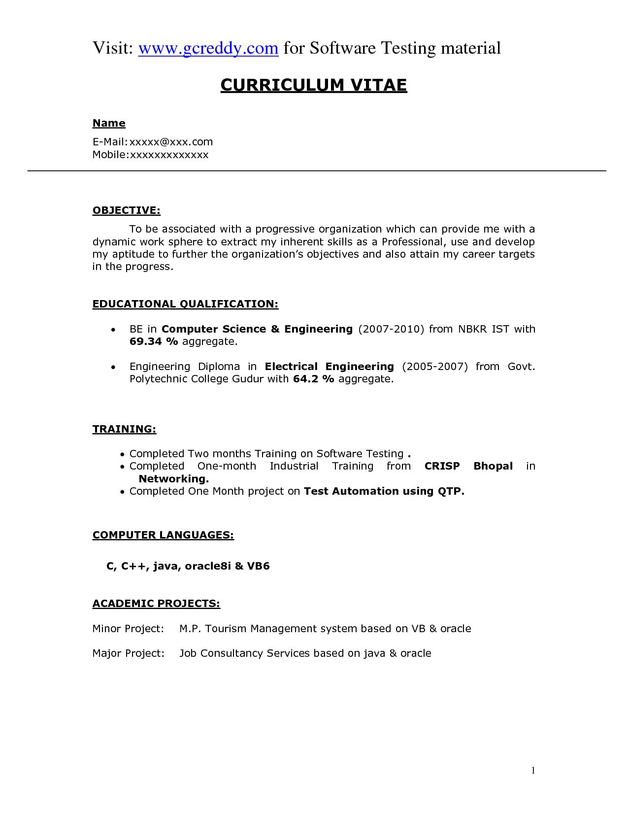 Software Manager Resume Cover Letter Samples Project Break