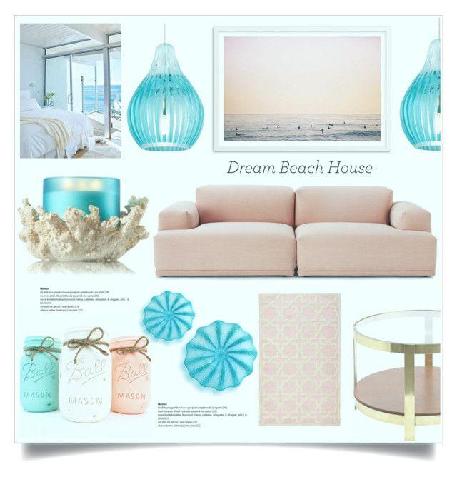 """Pink beach"" by jana-masarovicova ❤ liked on Polyvore featuring interior, interiors, interior design, home, home decor, interior decorating, Muuto, Tech Lighting, Home Decorators Collection and Viz Glass"