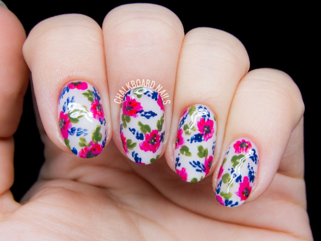 super pretty floral nail designs toe nail art flower nail art