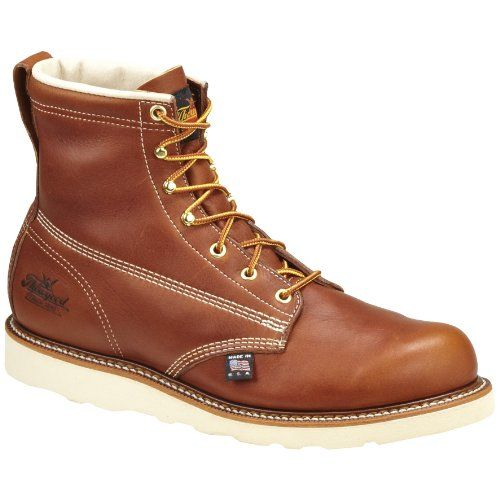 Mens leather work boots, Leather