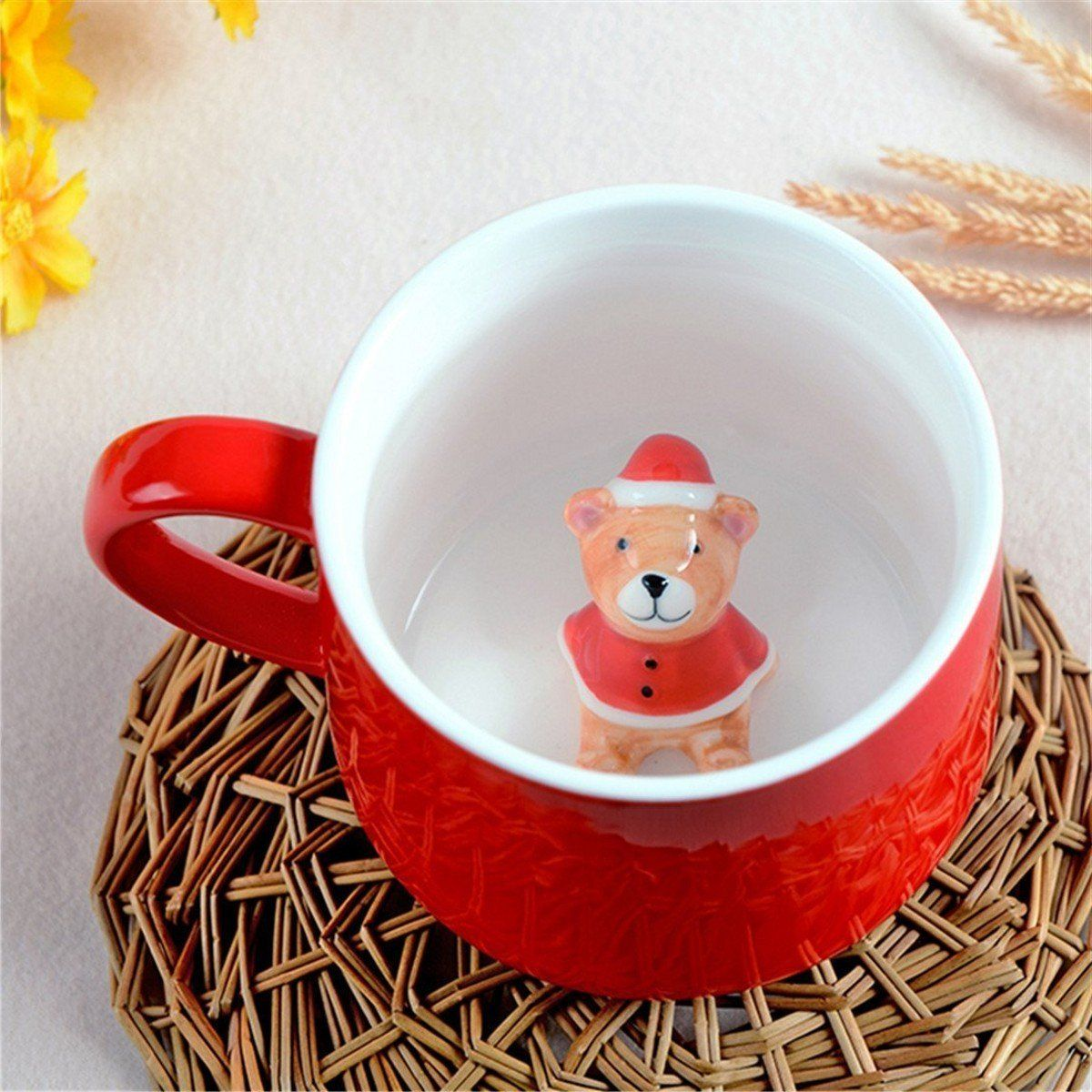 SHINA 3D Cartoon Tier Kaffeetasse Tee Tasse Keramik Milch Mug Tasse ...