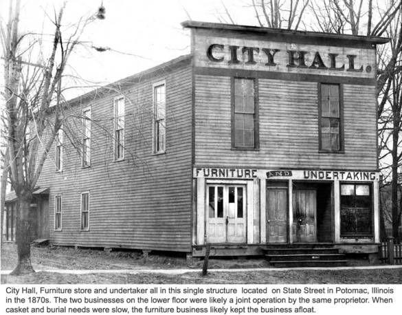 Marysville Potomac Illinois City Hall C 1870 Potomac Marysville City Hall