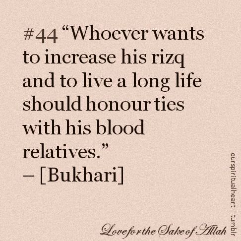 maintaining family ties are essential for every muslim