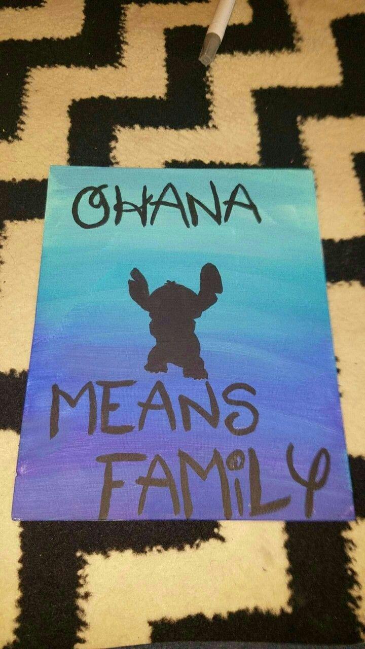 Stitch Canvas Ohana Means Family Disney Canvas Art Canvas