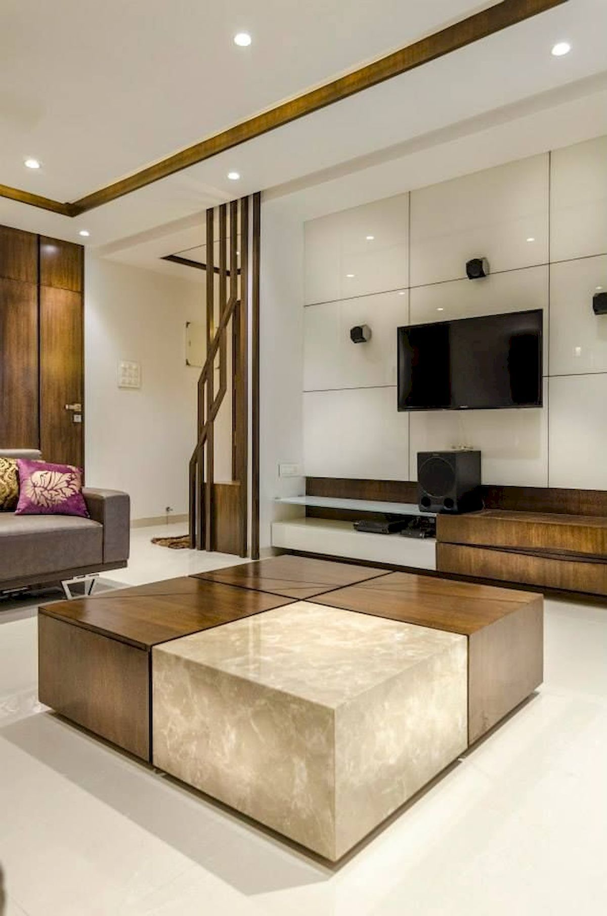 Partition idea plus tv unit also mighty clever tips false ceiling restaurant design blogs rh pinterest