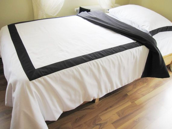 Queen White Duvet Cover With Black Border On Top 4 By Nurdanceyiz Bed Bedding Sets White Duvet Covers