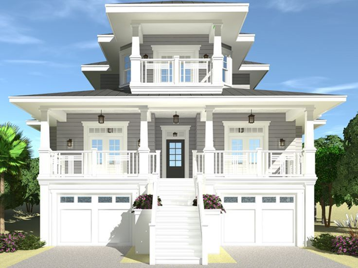 052h 0133 Two Story House Plan Designed For A Coastal View 3501 Sf Coastal House Plans Beach House Floor Plans Beach House Plans