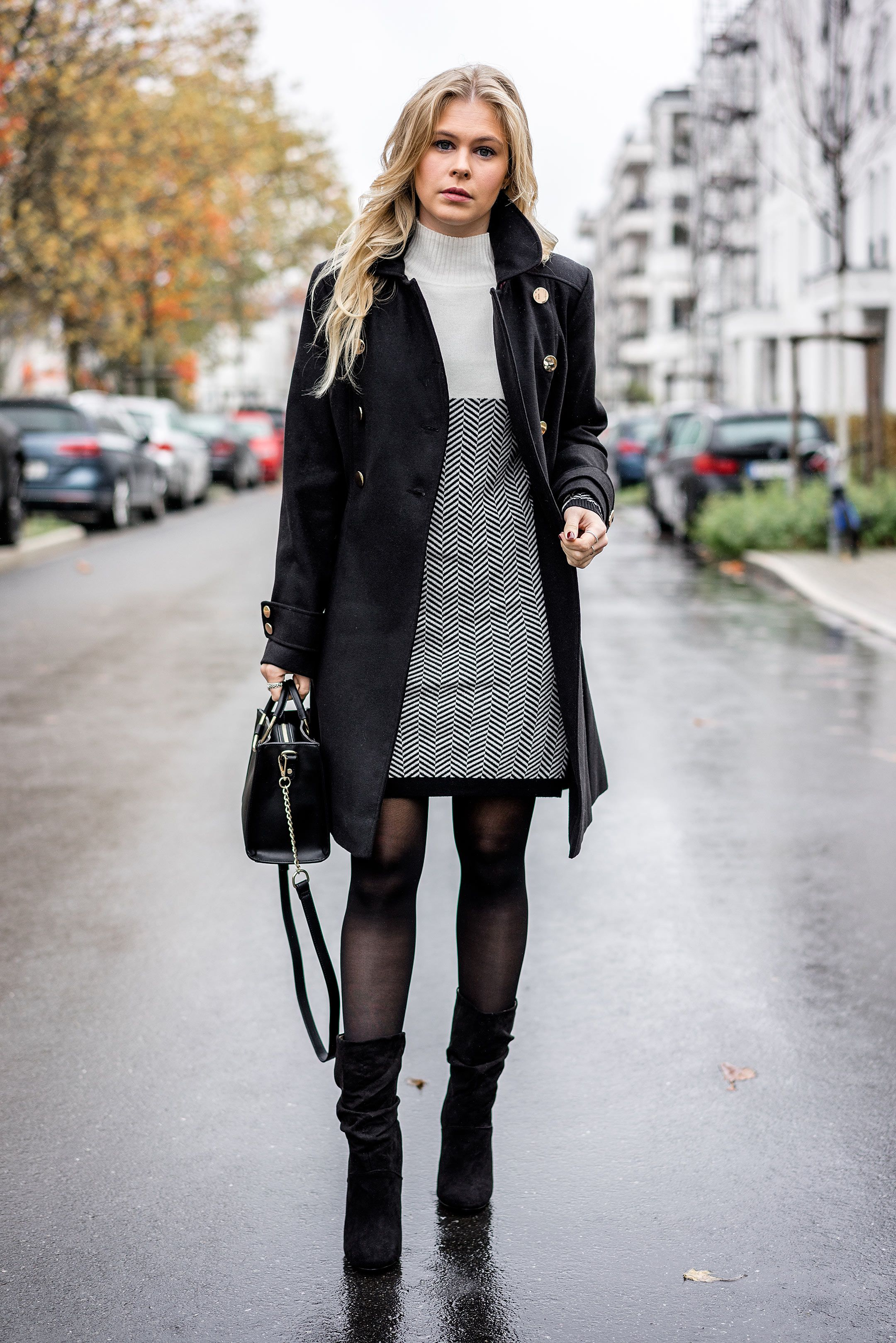 Outfit  Winterkleid x Slouch Boots w  Zalando   Style2   Pinterest ... a101350ec7