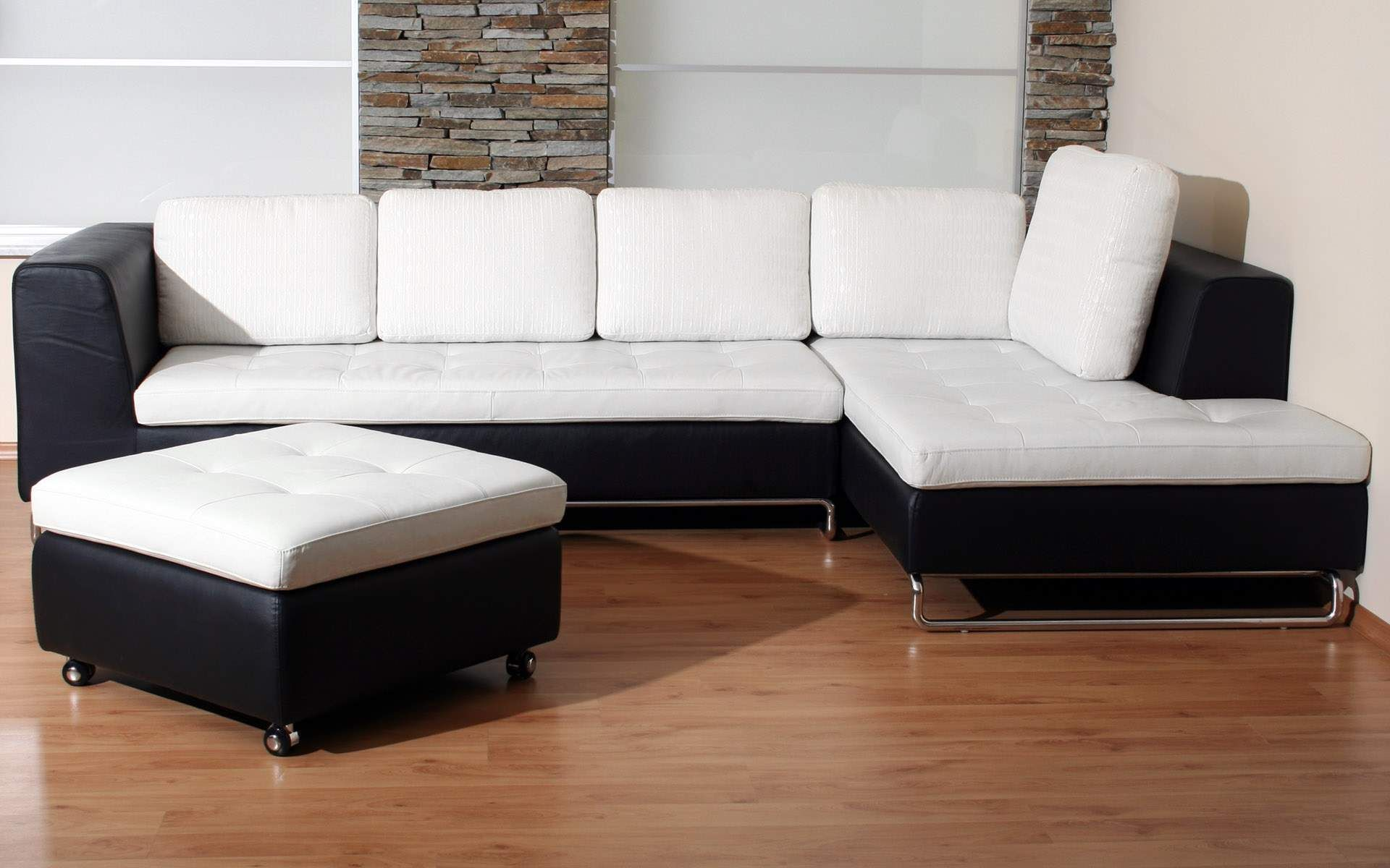 Awesome Modern Style White Sofas Living Room Furniture Decor | Home ...