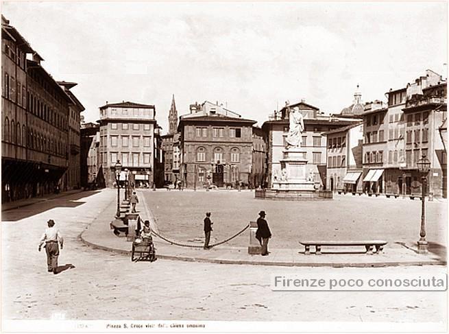 Piazza Santa Croce, 1900 circa,
