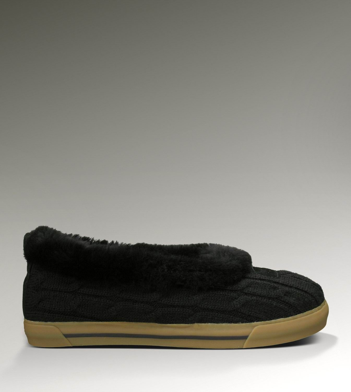 43e7230619b Rylan Knit 3314 Black Slippers | UGG | Black slippers, Slippers, Uggs