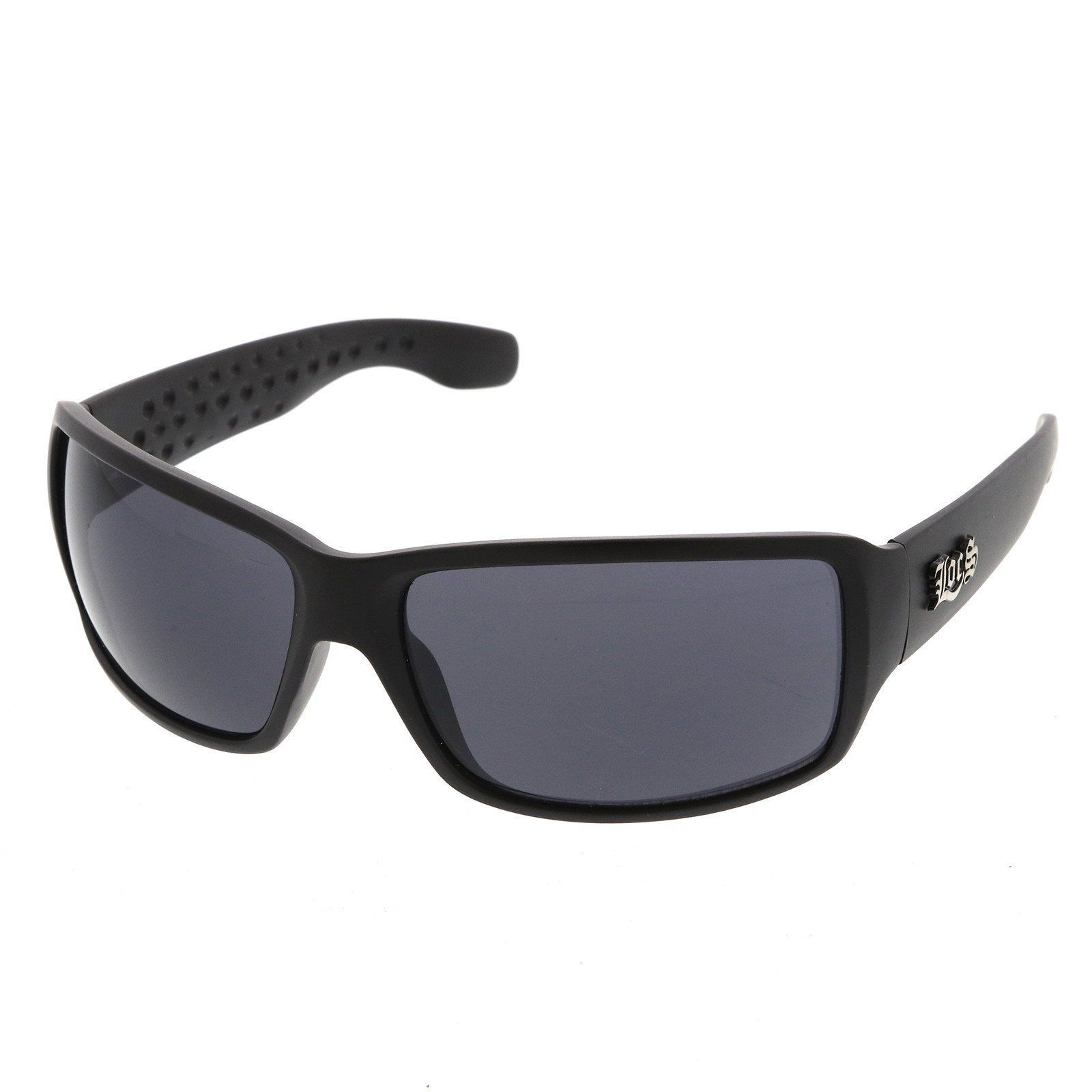 7c6bb742c7 Men s Hip Hop Rapper OG Wide Arm Blacked Out Lens Rectangle LOCS Sunglasses  66mm