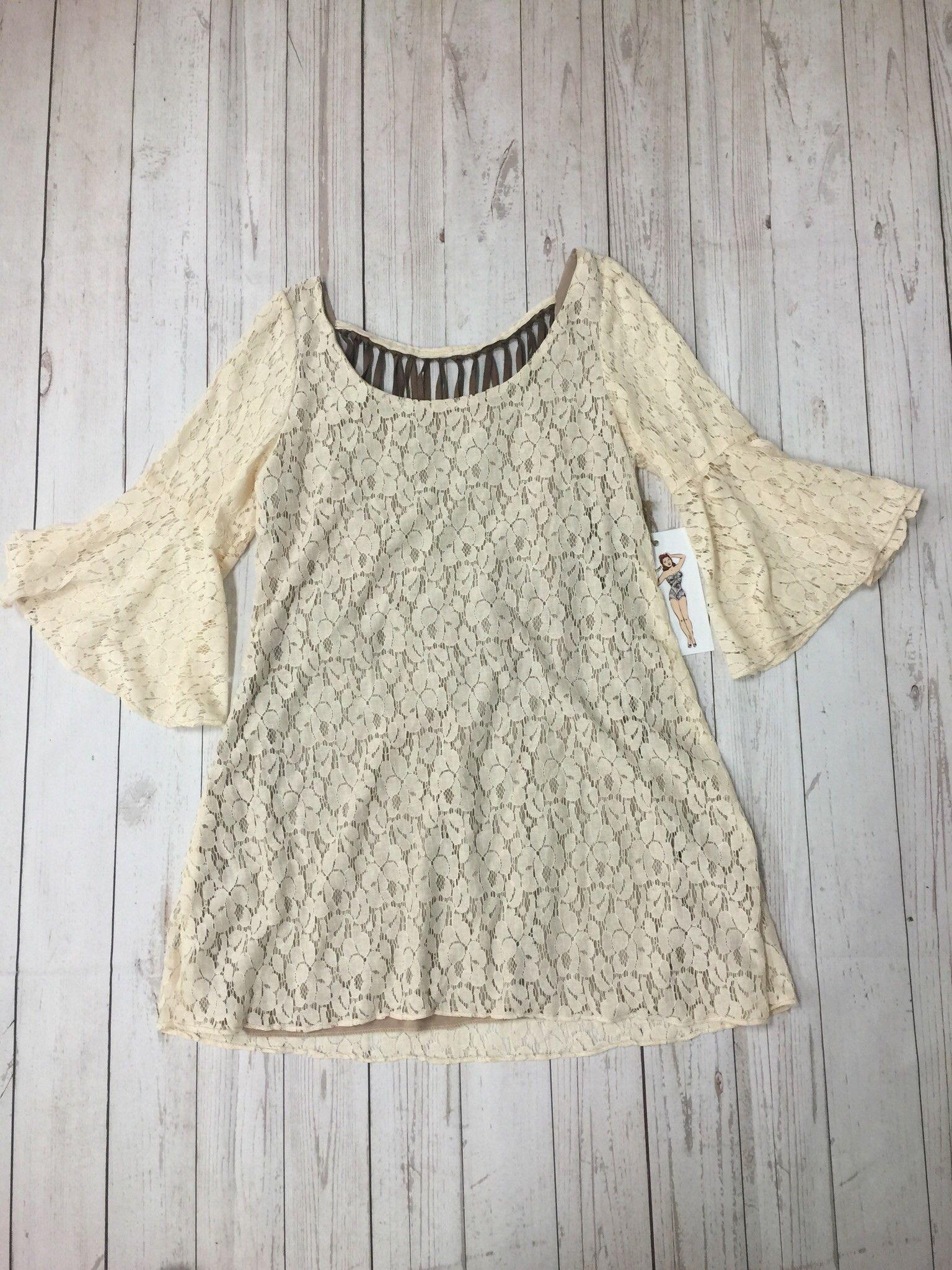 Cream Fringe Dress