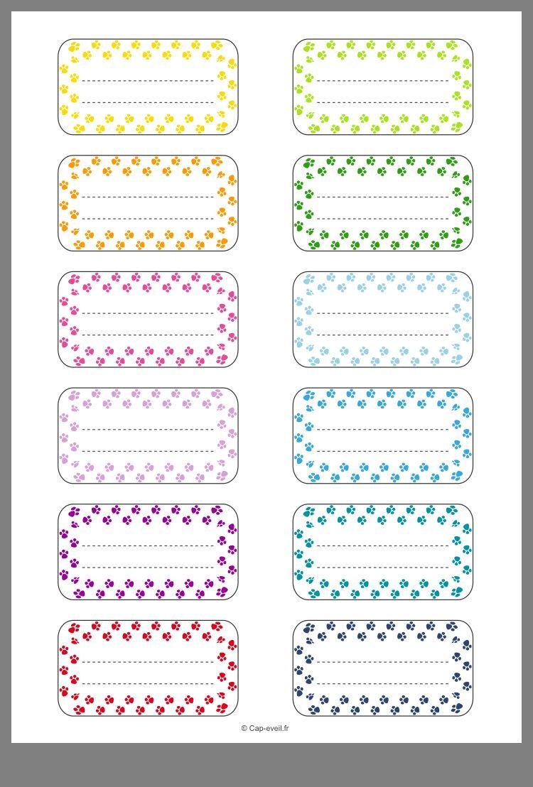 Épinglé par lillou sur Etiquette Étiquette cahier