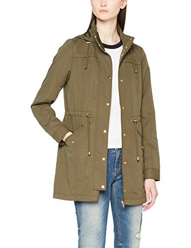 Vmpernille 3/4 Parka, Manteau Femme, Vert (Ivy Green Detail:Gold Metal Trimming), 40 (Taille Fabricant: Large)Vero Moda