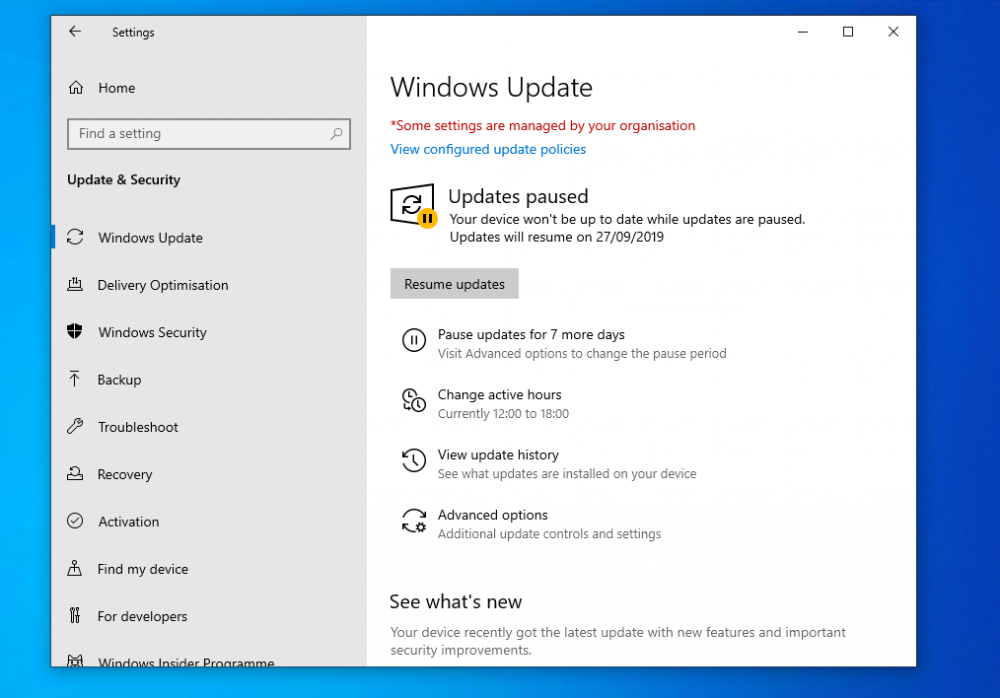 New Features Of Windows 10 May 1903 Feature Update Introduction This Guide Lists New Windows 10 1903 Features The F Resume Updating Windows Windows 10