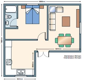 Deluxe Floorplan Mini House Plans House Plans Granny Annexe