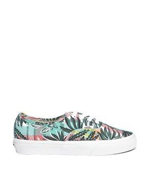 8a347160f7 Vans Authentic Floral Plaid Sneakers