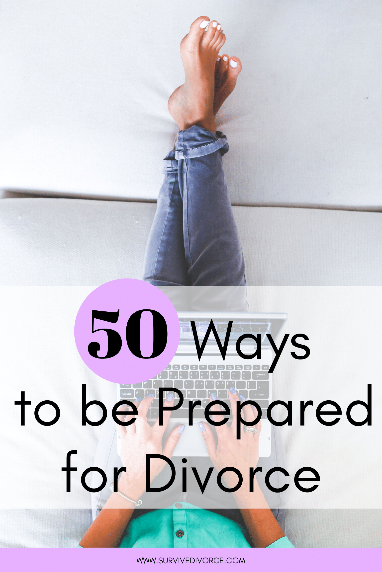 For many, divorce can be a long and exhausting process to go through. No matter what stage of the divorce process you are in, this divorce preparation guide will be of help for you. Get a game plan together, face your finances and more with these 50 ways to prepare for divorce. #divorce #divorceadvice #divorcehelp #divorce
