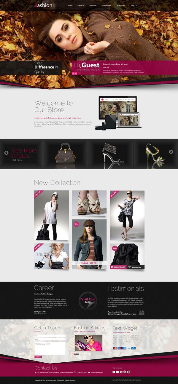Fashion Shop Responsive WordPress Theme by Wordpress Themes , via ...