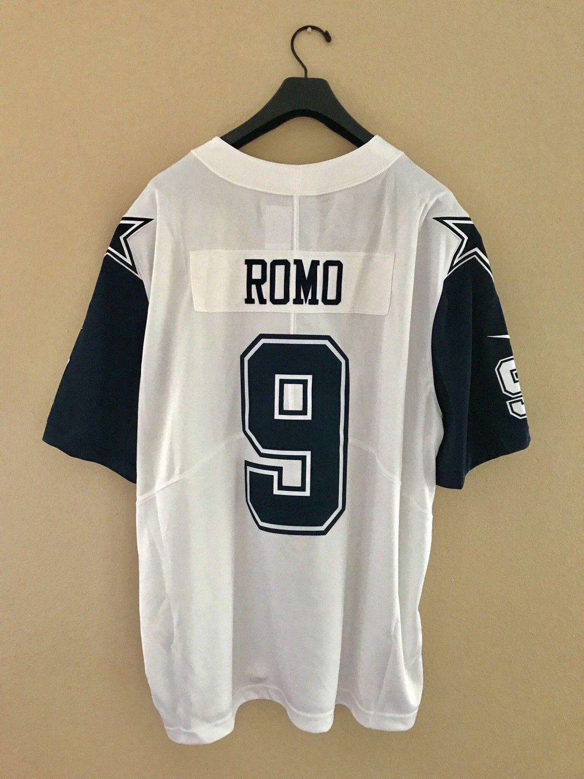 check out 9ef44 643ee New Dallas Cowboys Tony Romo Nike White Color Rush Legend ...