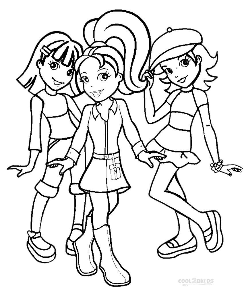 printable polly pocket coloring pages for kids cool2bkids