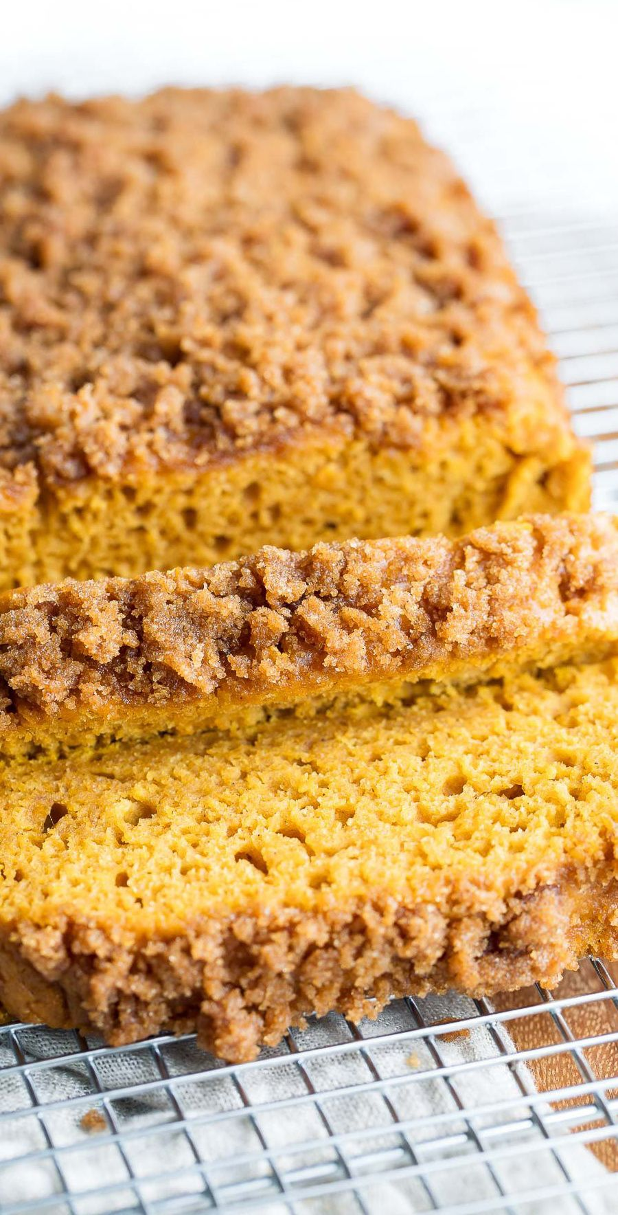 Pumpkin Bread with Cinnamon Sugar Streusel Peas And
