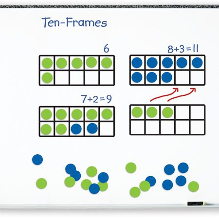 Giant Magnetic Ten-Frame Set | Classroom Rsources | Pinterest | Ten ...