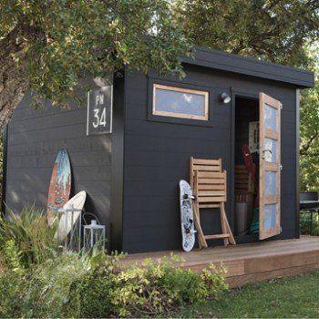 Abri de jardin bois Elite, 8.18 m² Ep.28 mm   Leroy Merlin