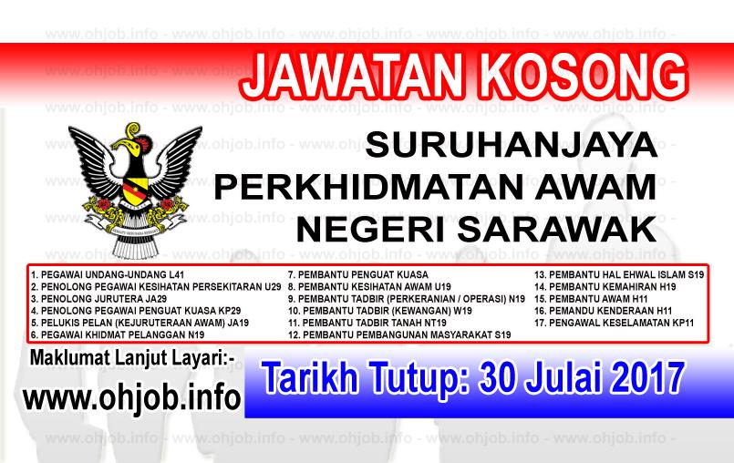 Jawatan Kosong Suruhanjaya Perkhidmatan Awam Negeri Sarawak 30 Julai 2017 Sarawak Malaysia