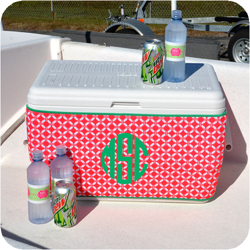 Ice Chest Cooler Koozie Wrap Pink Buoys Ice Chest