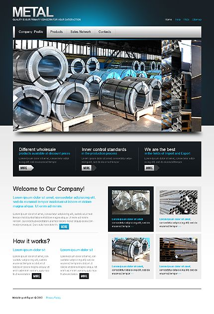 Template 38295 From Industrial Website Templates