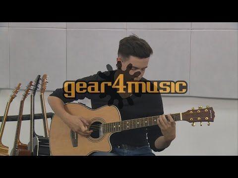 Roundback Elektro-akoestische gitaar door Gear4music, zwart op Gear4Music.com