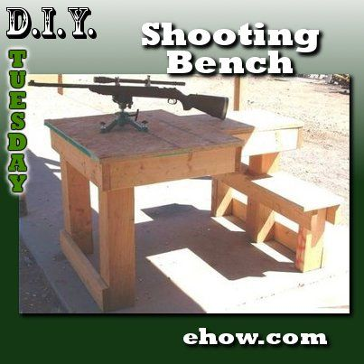 Diy Build A Shooter S Bench Right Hand Left Hand Shooters Lpc Survival Shooting Bench Shooting Bench Plans Shooting Table