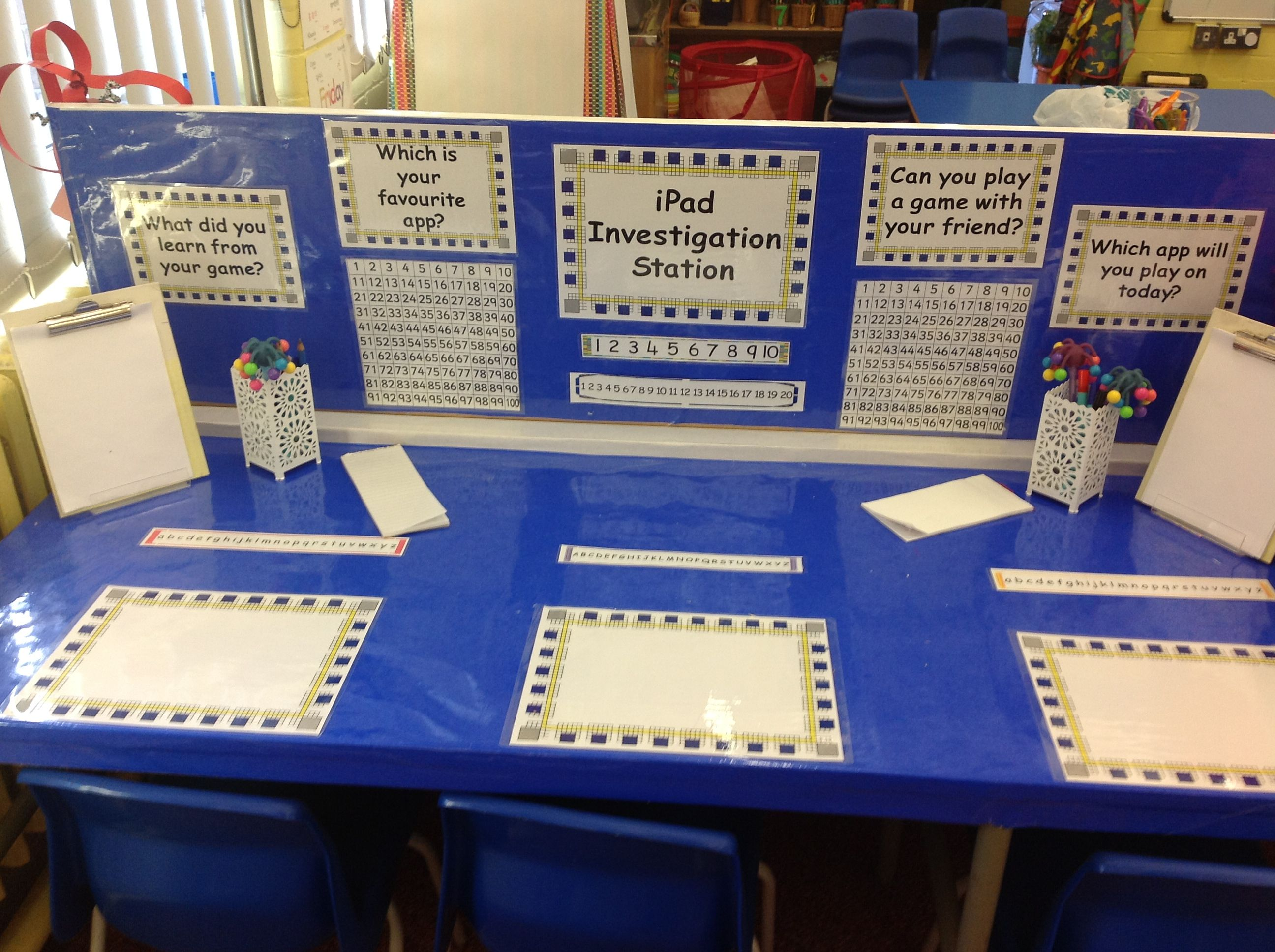 iPad Investigation Station named by the children