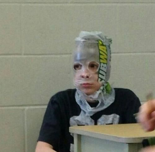 When you are level 1 and you have to wear any armor you can get...