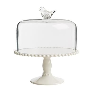 Image For Glass Dome Cake Stand With Robin From Kmart Glass Dome Cake Stand Cake Stand With Dome Cake Stand