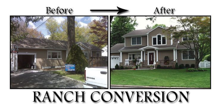 Ranch house additions before and after before and after for Second story additions to ranch homes