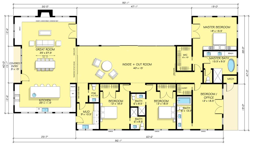 images about Ranch House Plans on Pinterest   House plans       images about Ranch House Plans on Pinterest   House plans  Square Feet and Nicholas D    agosto
