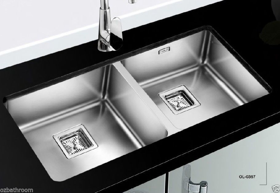 franke stainless steel undermount double bowl kitchen sinks - Kitchen Sinks Franke