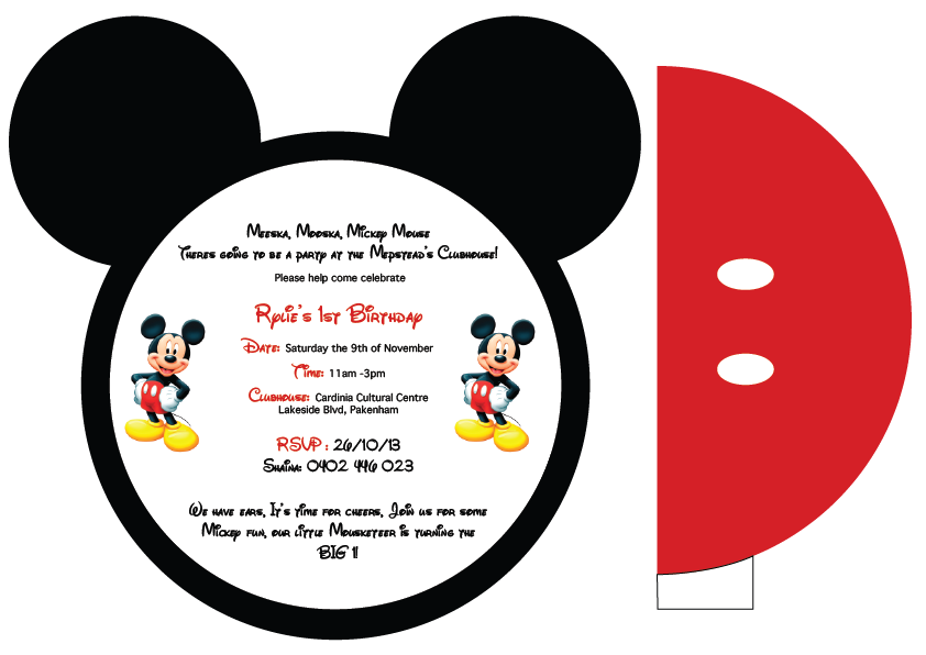 Mickey Mouse Invitation Template – Mickey Mouse Invitation Template