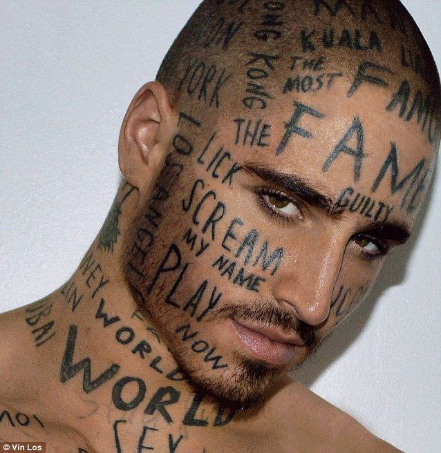 55cc2fec3 Vin Los has 24 tattoos on his face alone, including phrases like 'scream my  name' and and 'iconic face'