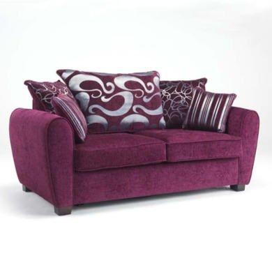 Sofa Pillows Icon Designs St Ives Monaco Seater Scatter Back Sofa Bed in Purple u