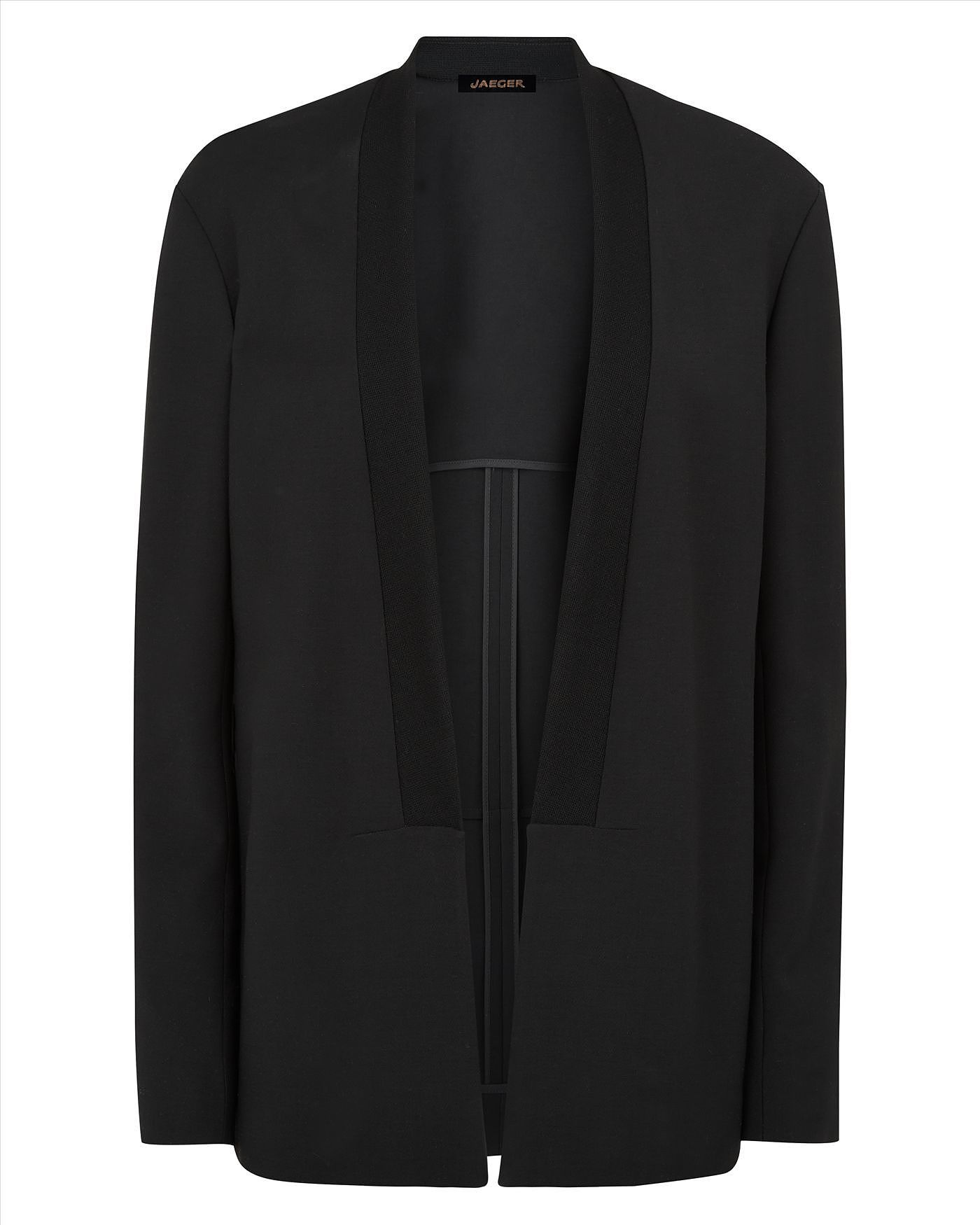 Womens black jacket from Jaeger £299 at ClothingByColour
