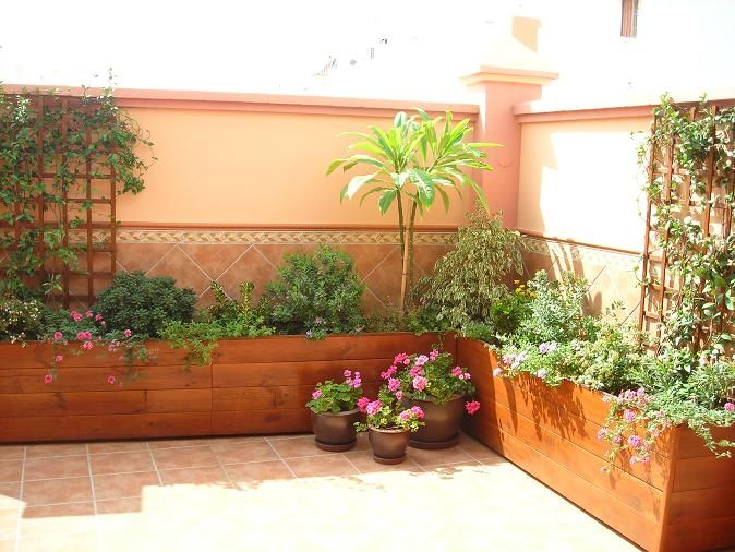 Jardineras garden and plants pinterest jardineras for Madera para patios exteriores