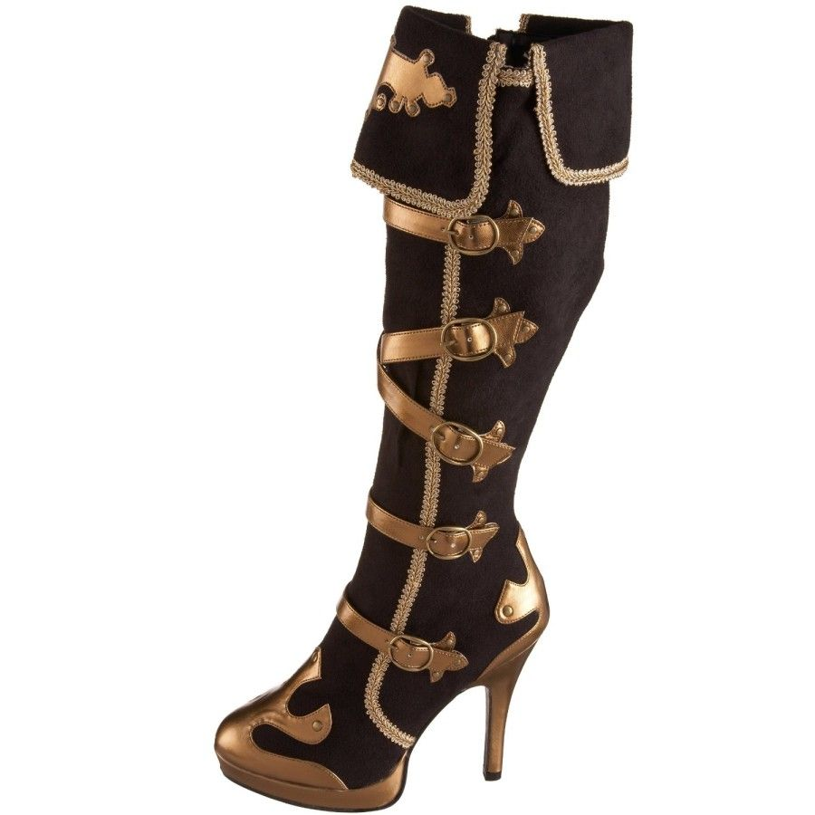 ced9c0b9f76 Lady Pirate Captain Microsuede Boots | Pirate Boots, Pirate Shoes ...