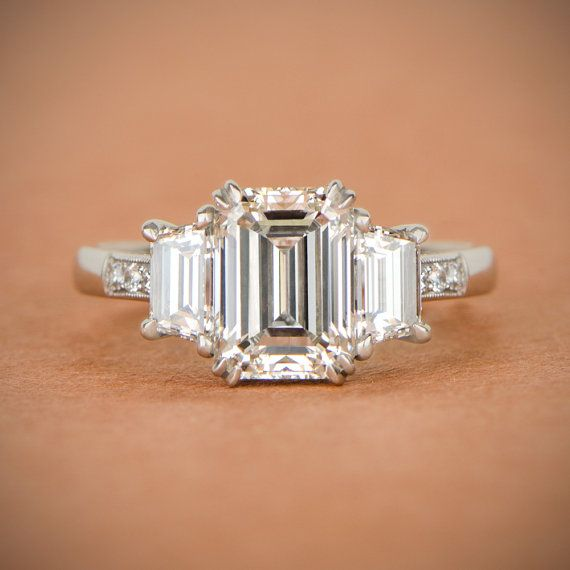 on rings jewelry images jewellery emerald erstwhileco engagement best vintage pinterest estate
